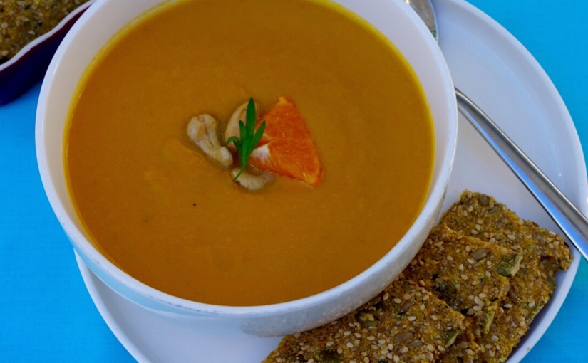 Creamy Carrot Orange Soup with Cashews