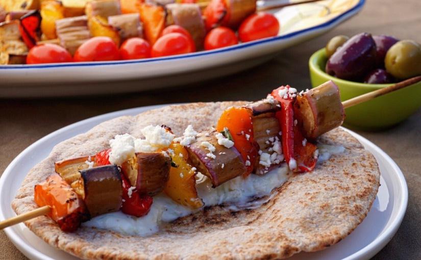 Sheet Pan EggplantSouvlaki