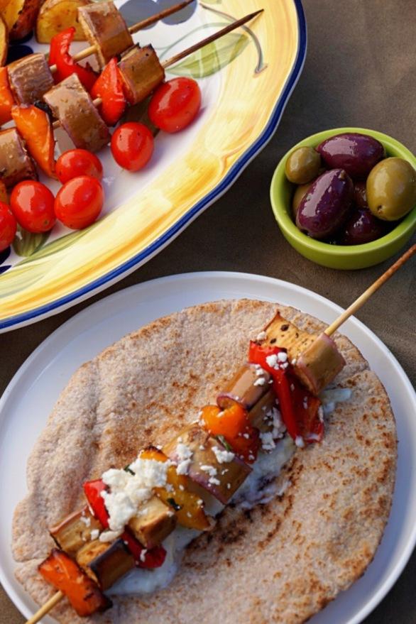 Eggplant Souvlaki